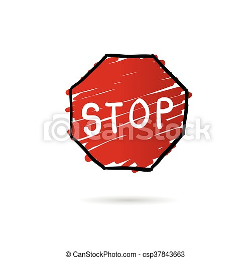stop sign cartoon illustration in colorful clip art vector search rh canstockphoto com clip art stop sign with hand clipart stop sign free
