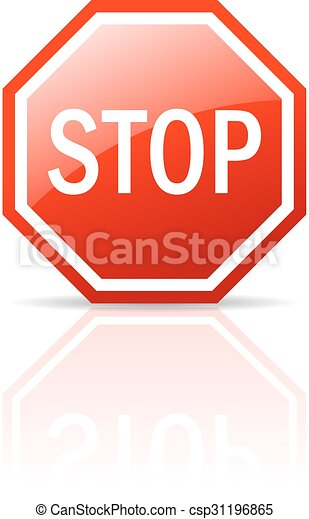 stop sign stop vector sign on white background clip art vector rh canstockphoto com clipart hand stop sign clipart bus stop sign