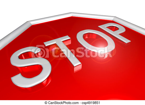 Stop sign closeup - csp4919851