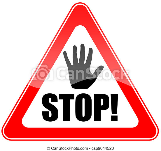 stop sign with hand rh canstockphoto com stop sign logo clip art stop sign car logo