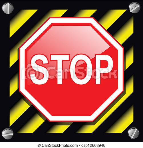 Stop sign - csp12663948