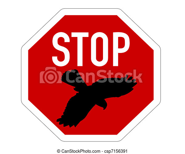 stop sign for bird swoops vector clip art search illustration rh canstockphoto com stop sign graphic design stop sign graphics free
