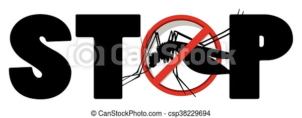 Stop sign for mosquito - csp38229694