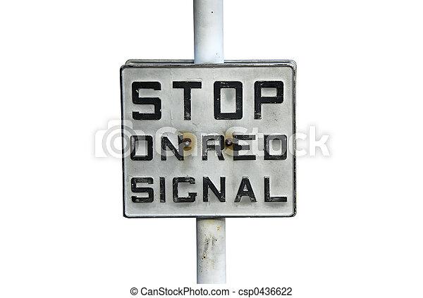 Stop Sign - csp0436622