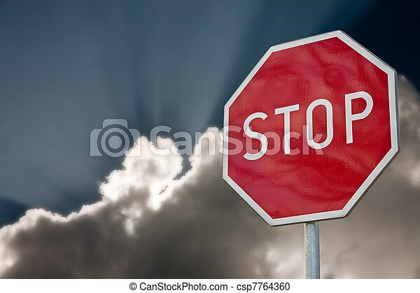 stop sign - csp7764360