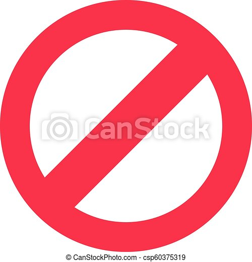 Stop Sign Symbol Warning Stopping Icon Prohibitory Character Or