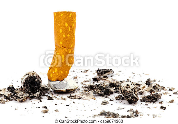 stop smoking. muffled out cigarette - csp9674368