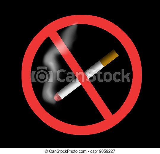 Stop smoking - csp19059227