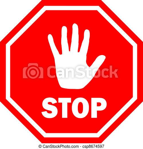 Stop vector sign - csp8674597