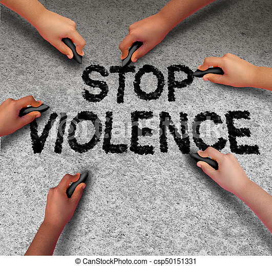 stop violence images