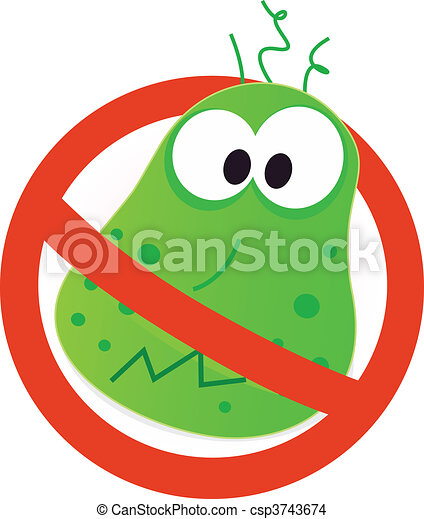 Stop virus - green virus - csp3743674