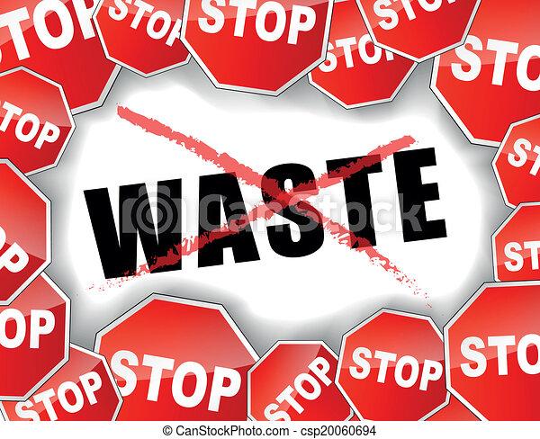 Stop waste concept - csp20060694
