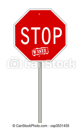 Stop waste sign - csp3531435