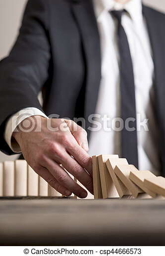 Stopping domino effect - csp44666573