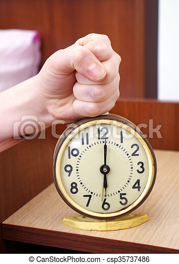 Stopping The Alarm Clock In The Bedroom