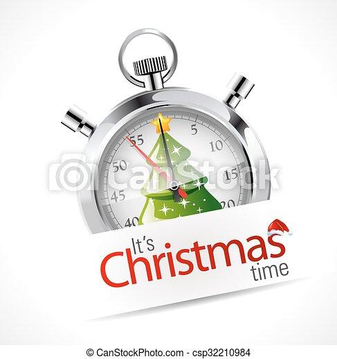 Stopwatch - Christmas time - csp32210984