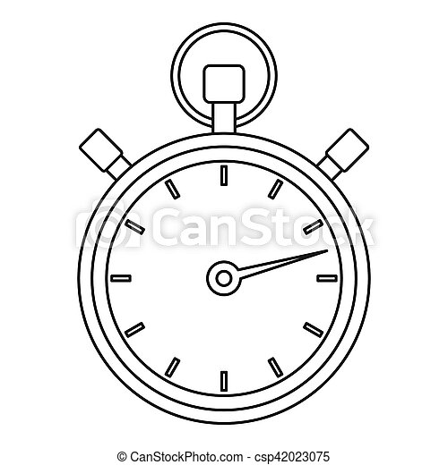 Stopwatch icon, outline style - csp42023075