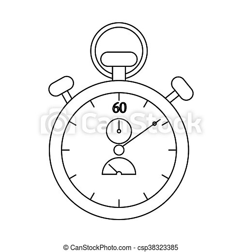 Stopwatch icon, outline style - csp38323385