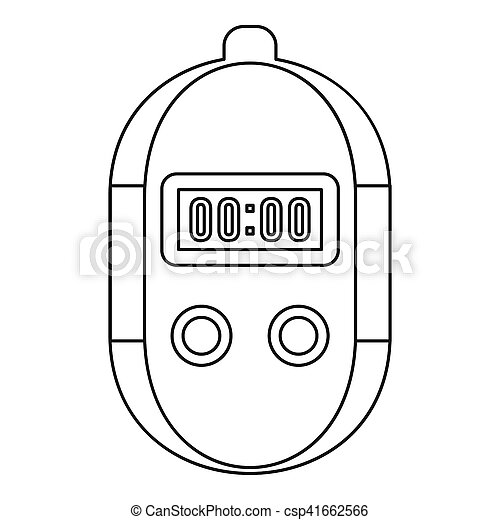 Stopwatch icon, outline style - csp41662566