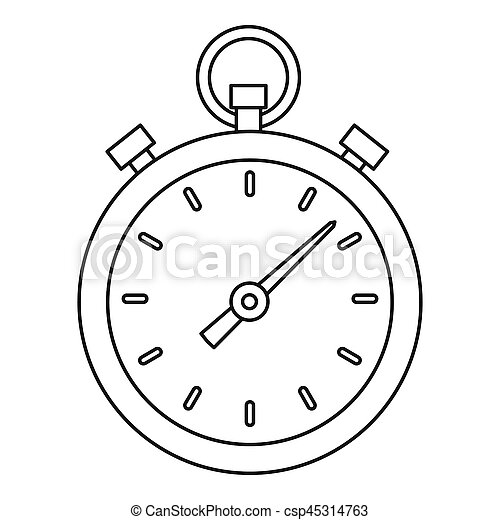 Stopwatch icon, outline style - csp45314763