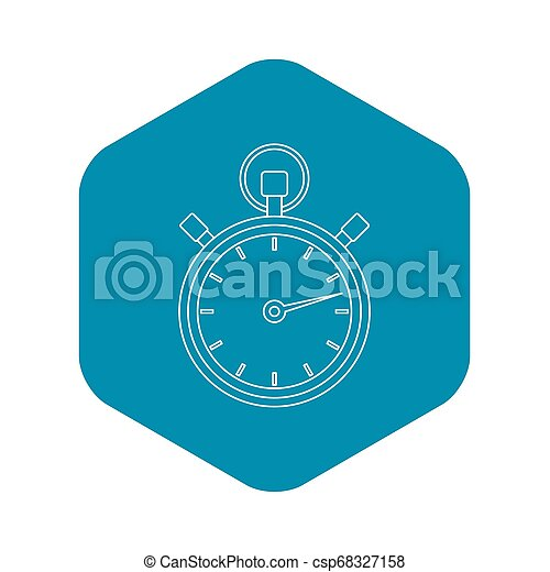 Stopwatch icon, outline style - csp68327158
