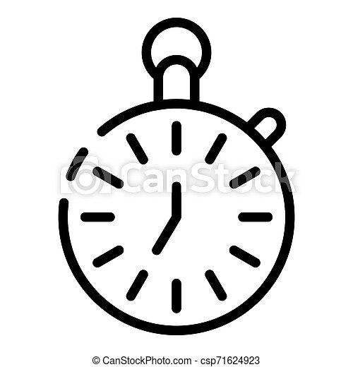 Stopwatch icon, outline style - csp71624923