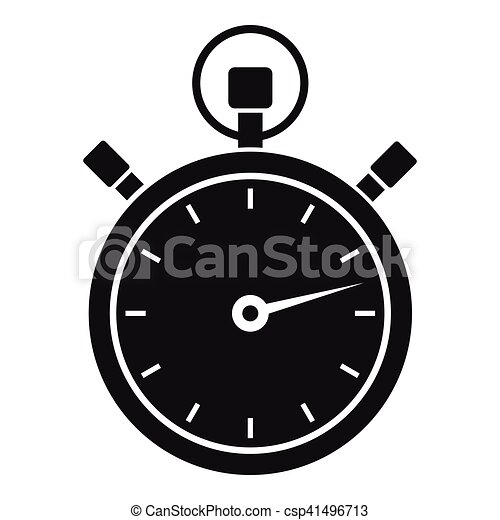 stopwatch icon simple style stopwatch icon simple vector clip rh canstockphoto com stopwatch clipart transparent stopwatch clipart vector