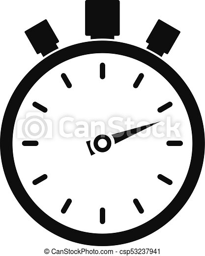 stopwatch modern icon simple black style stopwatch modern eps rh canstockphoto com stopwatch clipart free stopwatch clipart vector