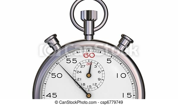 stopwatch passing one minute stopwatch zoom in showing hand passing