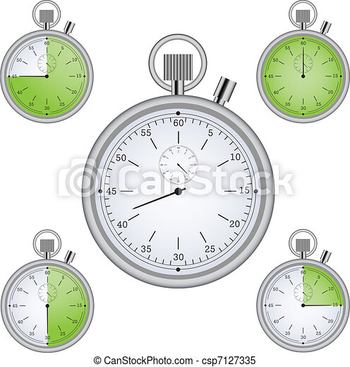 stopwatch set with 15 min interval timers