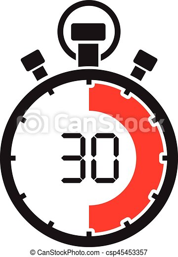 stopwatch clipart. vector stopwatch thirty minute clipart