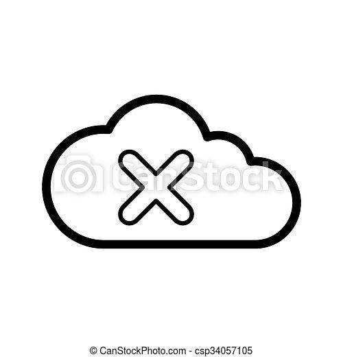 storage devices icon line - csp34057105