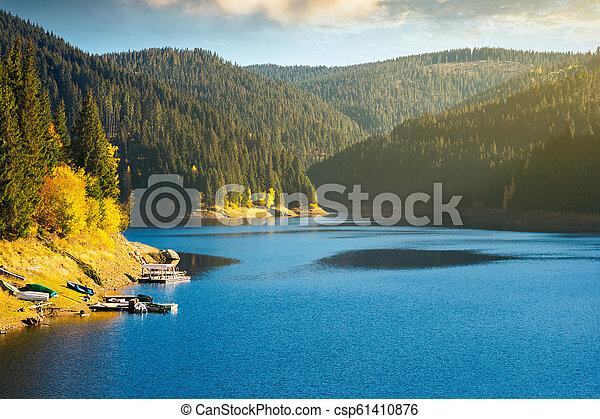 storage lake reservoir in mountain - csp61410876