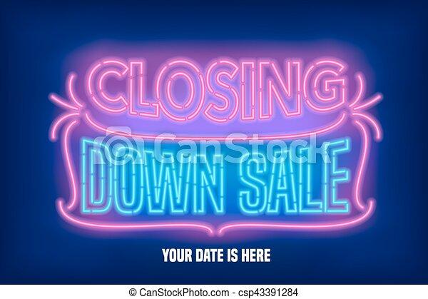 Store closing sale vector banner, illustration - csp43391284