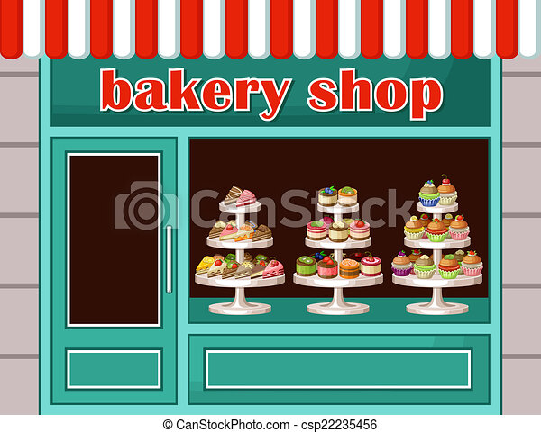 store of sweets and bakery vector illustration image of a store rh canstockphoto com bakers clip art bakery clip art free download