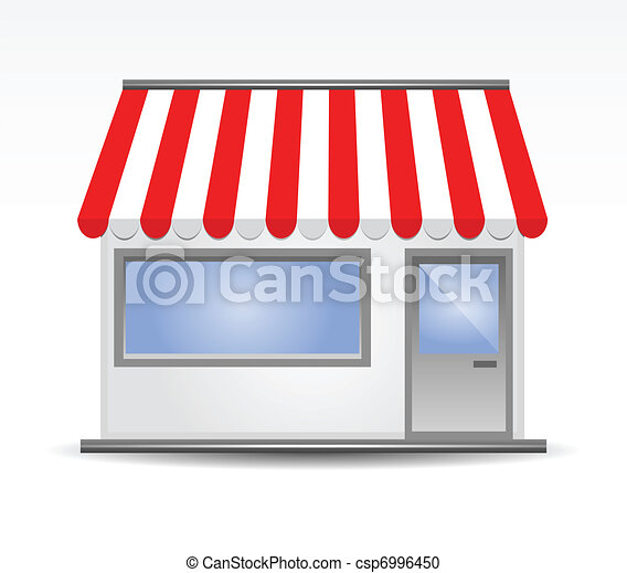 Storefront Awning in red - csp6996450