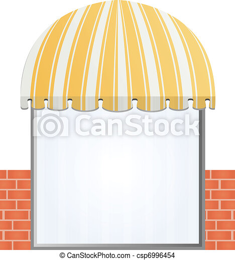 Storefront Awning in yellow - csp6996454