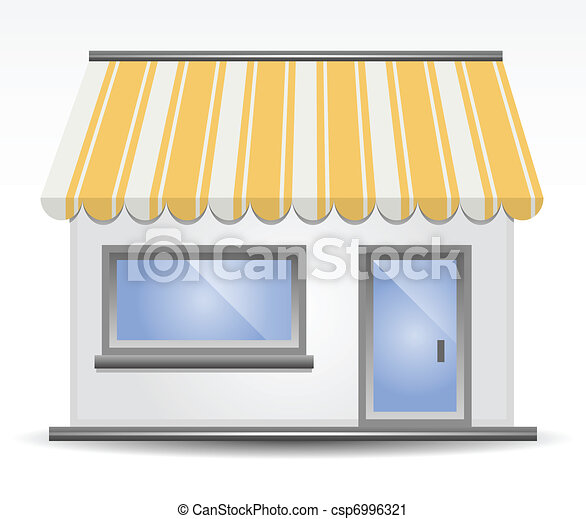 Storefront Awning in Yellow - csp6996321