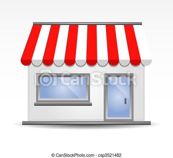 storefront, illustration, vecteur - csp3521482
