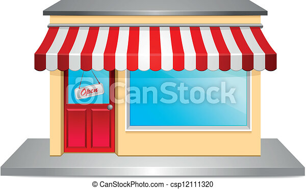 Storefront Detailed Illustration Of A Store Front