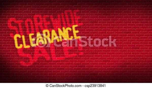 Storewide Clearance Sale Brick - csp23913841