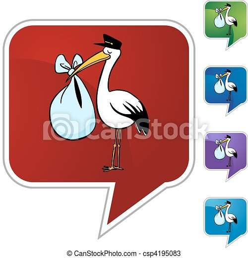 Stork Delivery - csp4195083