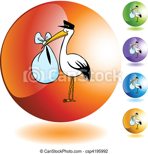 Stork Delivery - csp4195992