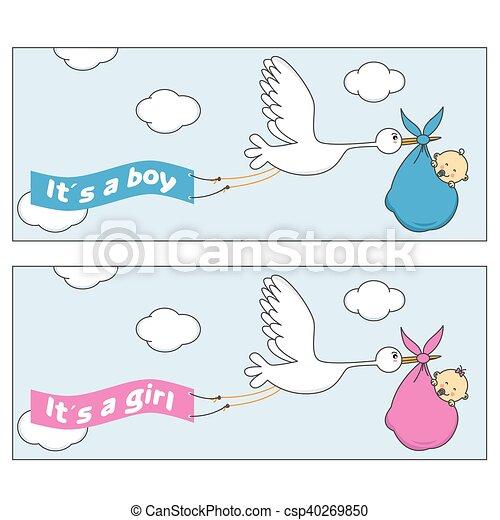 Stork with baby - csp40269850