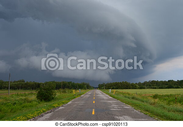 Storm at the End of the Road - csp91020113