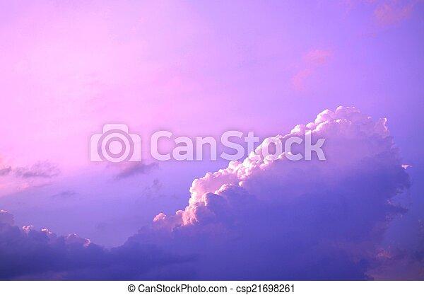 Storm clouds on a summer evening - csp21698261