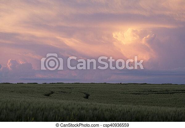 Storm Clouds Saskatchewan - csp40936559