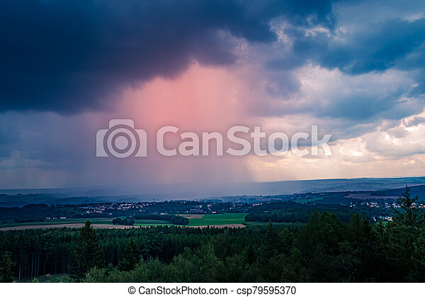 Storm clouds with rain - csp79595370