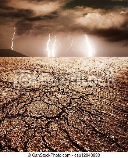 Storm in desert - csp12043930