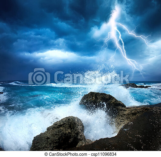 storm, oceaan - csp11096834